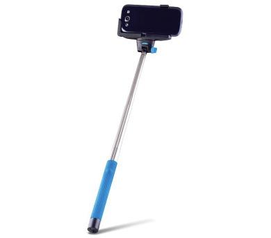 FOREVER MP-100 selfie tyčka s ovládacím bluetooth tlačítkem - modrá