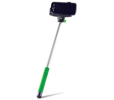 FOREVER MP-100 selfie tyčka s ovládacím bluetooth tlačítkem - zelená