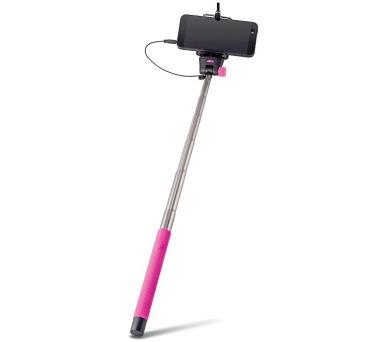 FOREVER MP-400 selfie tyčka s ovládacím tlačítkem - růžová