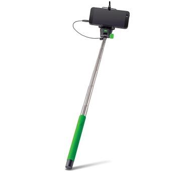 FOREVER MP-400 selfie tyčka s ovládacím tlačítkem - zelená (HOLSELFIEMP400GR)