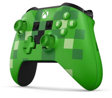 XBOX ONE - Bezdrátový ovladač Xbox One S Minecraft Creeper [Modesto]