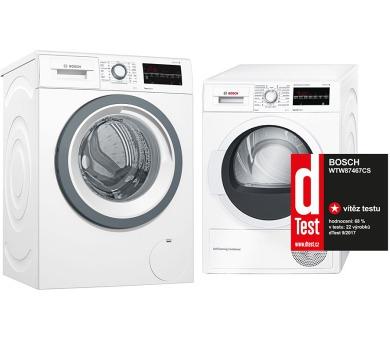 SET Pračka Bosch WAT28480CS Serie 6 + Sušička Bosch WTW87467CS kondenzační