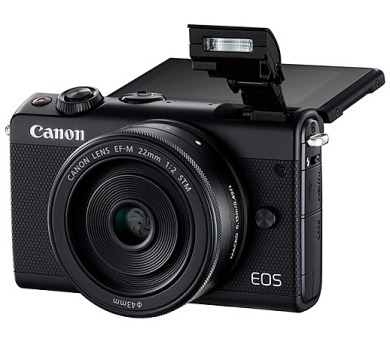 Canon EOS M100 Black + EF-M 15-45mm f/3.5-6.3 IS STM + EF-M 22mm f/2 STM