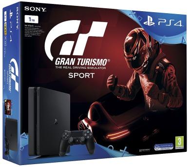 Sony PS4 1TB slim black + Gran Turismo + PS Plus