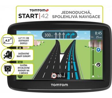 TomTom START 42 Europe (45 zemí) LIFETIME mapy (1AA4.002.03)