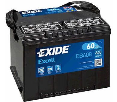 Exide 12V 60Ah EB608