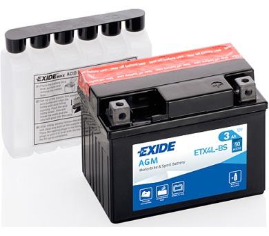 Exide 12V 3Ah ETX4L-BS