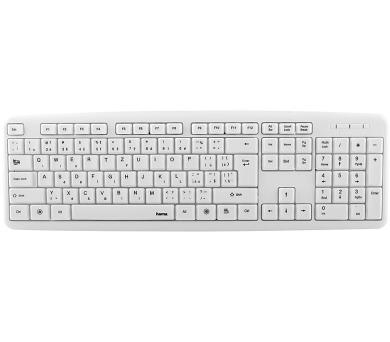 HAMA klávesnice Verano/ drátová/ USB/ CZ+SK/ bílá (53931)