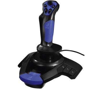 HAMA uRage vibrační joystick Airborne/ USB/ 12 tlačítek/ černo-modrý