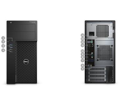DELL Precision T3620 i7-6700/8GB/256GB SSD/2GB Quadro P600/klávesnice+myš/Win 7 Pro+W10 Pro (2YJF0)