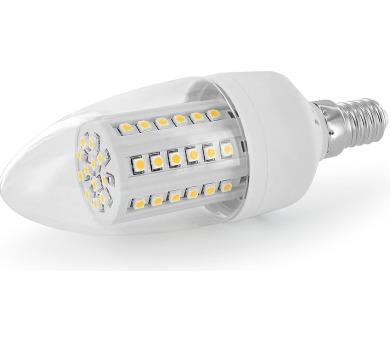 WE LED žárovka 60xSMD 3W E14 bílá - svíčka