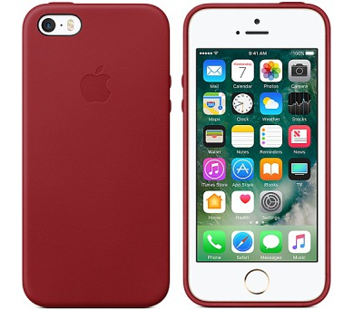 iPhone SE Leather Case - (PRODUCT)RED