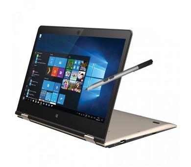 """UMAX tablet PC VisionBook 12Wa PEN/ 2in1/ 11,6"""" IPS/ 1920x1080/ 4GB/ 32GB Flash/ mini HDMI/ USB/ W10 Home/ černo-zlatý"""
