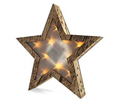 Solight LED dřevěná vánoční hvězda