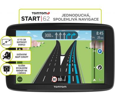 Tomtom START 62 Europe (45 zemí) LIFETIME mapy (1AA6.002.02)