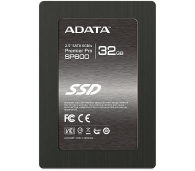 """ADATA SSD 32GB Premier Pro SP600 / 2,5"""" / SATA III 6Gb/s / 7mm"""