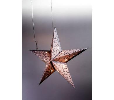 Hvězda svítící LED papírová