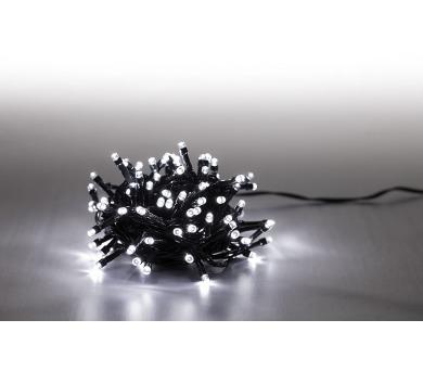 Řetěz světelný 400 LED 20 m - studená bílá - 8 funkcí