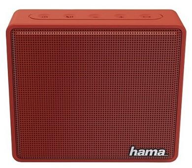 HAMA mobilní reproduktor Pocket/ 3W/ BlueTooth/ Micro SD/ 3,5 mm jack/ červený (173122)