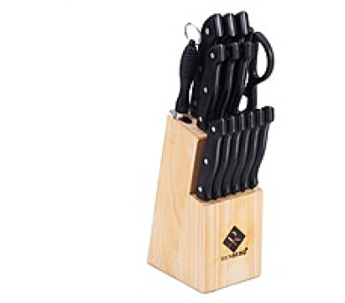 RENBERG Sada nožů v bloku 15 ks