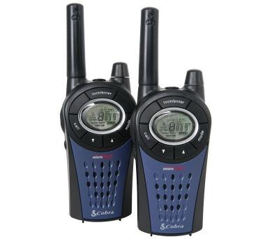 COBRA vysílačky MT975C/ profi PMR/ 2ks/ nabíječka + 8x nabíjecí baterie AAA/ 8 kanálů/ dosah 12km/ modré + DOPRAVA ZDARMA