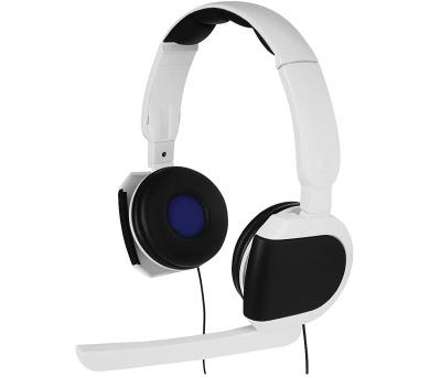 HAMA headset Insomnia VR pro PS4/PS VR/ drátová sluchátka + mikrofon/ 2x 3,5 mm jack/ citlivost 112 dB/mW/ černo-bílý