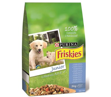 Friskies dog dry Junior 3 kg