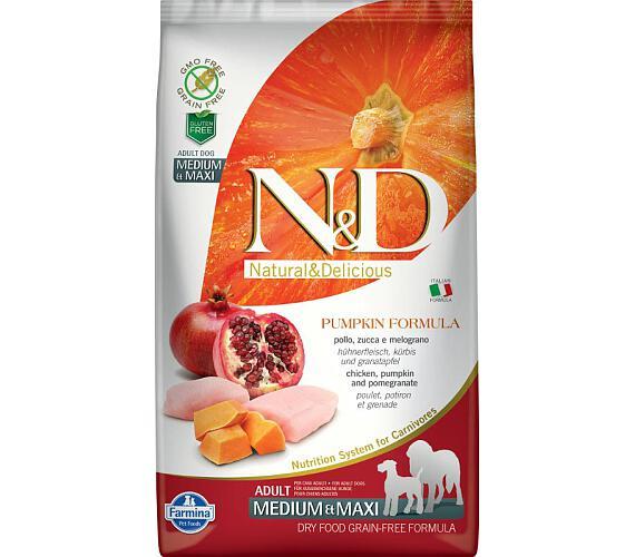 N&D Grain Free Dog Adult M/L Pumpkin Chicken & Pomegranate 2,5 kg