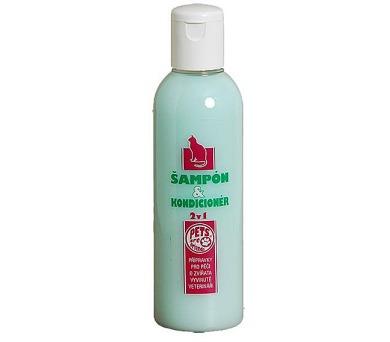 Šampon & kondicionér 2v1 pro kočky 200 ml