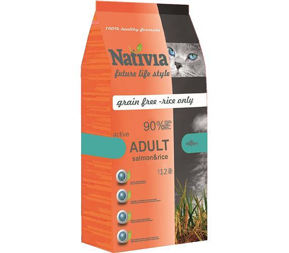Nativia Cat Adult Active Salmon & Rice 10 kg + DOPRAVA ZDARMA