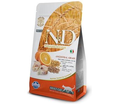 N&D Low Grain Cat Adult Codfish & Orange 10 kg