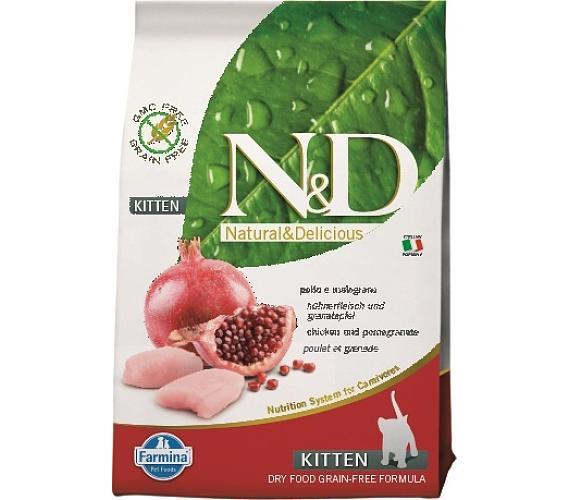 N&D Grain Free Cat Kitten Chicken & Pom. 10 kg