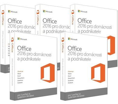 5ks MS Office pro podnikatele 2016 32/64 bit Czech Eurozone Medialess + batoh Lowe Alpine Cholatse 45 zdarma