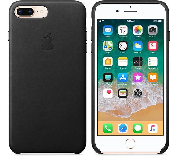 iPhone 8 Plus / 7 Plus Leather Case - Black + DOPRAVA ZDARMA