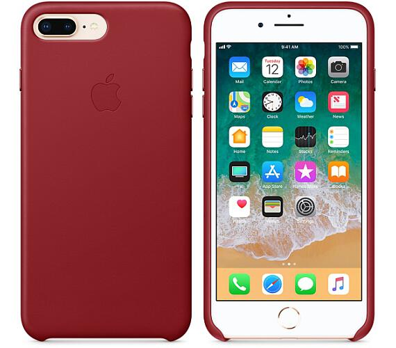 iPhone 8 Plus / 7 Plus Leather Case - (PRODUCT)RED (MQHN2ZM/A)