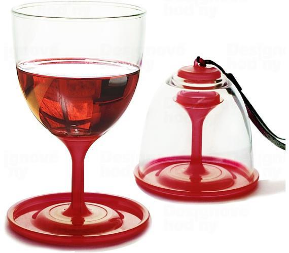 Asobu piknikové skládací poháry na víno - set 2ks