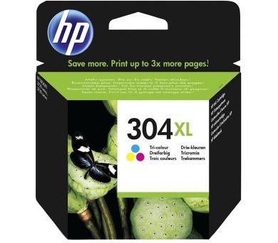 HP 304XL Tříbarevná originální inkoustová kazeta + DOPRAVA ZDARMA
