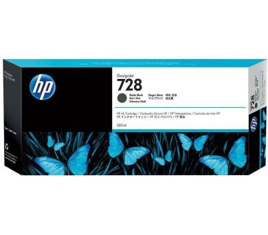 HP 728 300-ml matně černá DesignJet Ink Cartridge (F9J68A)