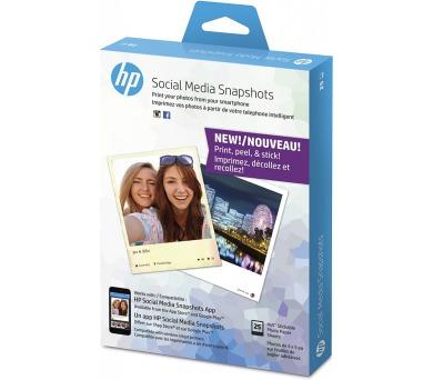Fotografický papír HP Social Media Snapshots Removable Sticky Photo Paper