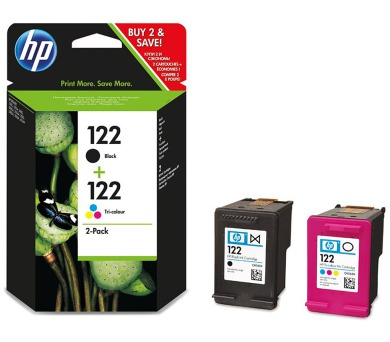 HP 122 2-pack černá/Tri-color originální inkoustové kazety (CR340HE)