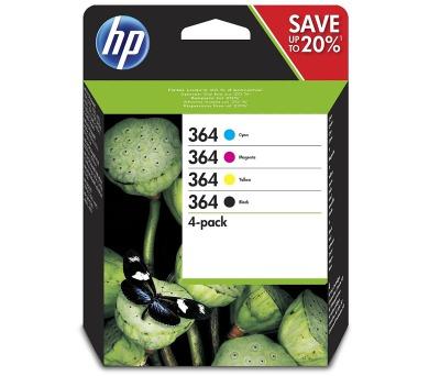 HP 364 Čtyřbalení originálních inkoustových kazet – Černá