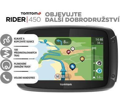 TomTom Rider 450 World pro motocykly Premium pack + DOPRAVA ZDARMA