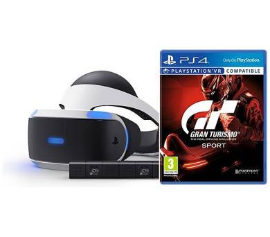 PS4 - PSVR headset + Kamera + Gran Turismo Sport + VR World (PSN voucher) + DOPRAVA ZDARMA