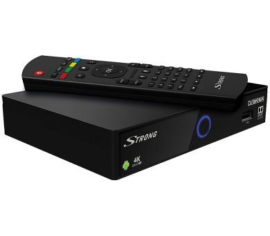 STRONG android box SRT 2401/ 4K Ultra HD/ DVB-S2/T2/C/ H.265/HEVC/ IPTV/ HDMI/ 2x USB/ BT/ LAN/ W-Fi/ Android 7.1/ černý (SRT2401) + DOPRAVA ZDARMA