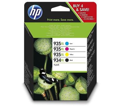 Čtyřbalení originálních inkoustových kazet (HP 934XL Černá s vysokou výtěžností + DOPRAVA ZDARMA