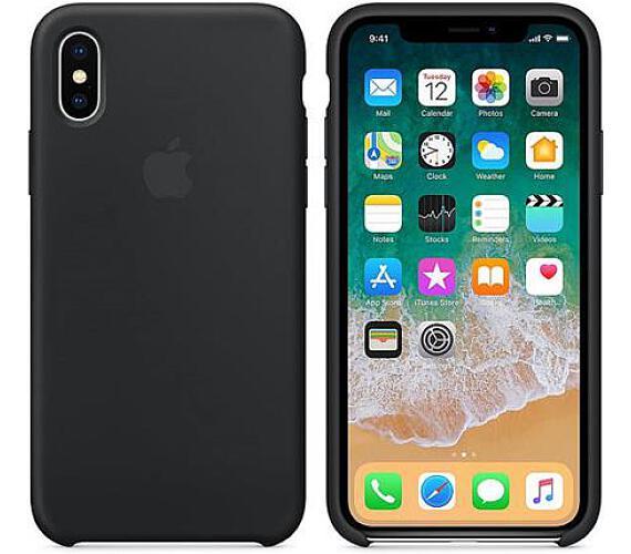 Apple Silicone Case pro iPhone X - černý