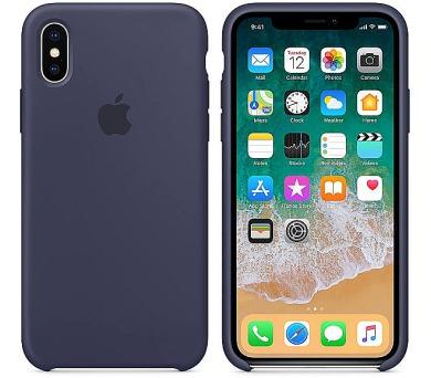 Apple Silicone Case pro iPhone X - půlnočně modrý