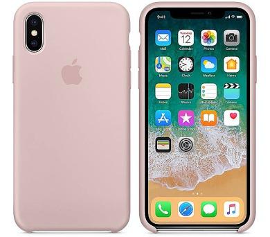 Apple Silicone Case pro iPhone X - pískově růžový