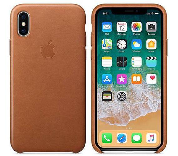 Apple Leather Case pro iPhone X - sedlově hnědý + DOPRAVA ZDARMA