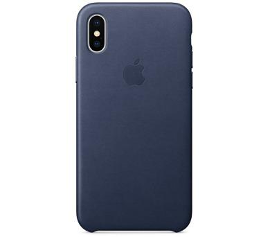 Apple Leather Case pro iPhone X - půlnočně modrý + DOPRAVA ZDARMA